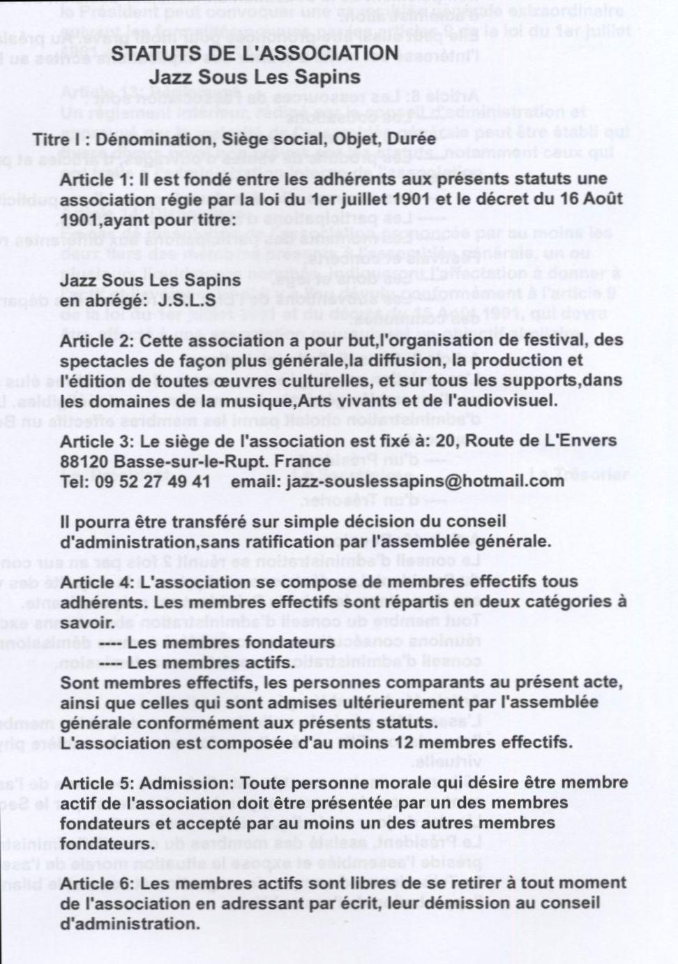 Modèle de statuts types d'association régie par la loi du 1er juillet 1901
